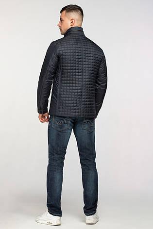 Мужская демисезонная классическая куртка темно-синяя, фото 2