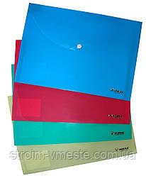 Папка конверт на кнопке NORMA 5102 А4 РР 160 мкм цвета в ассортименте