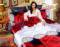 Комплект постельного белья Атласный Diana Rose простынь на резинке