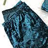 Велюровая пижама: комплект майка+шорты (изумрудная), фото 4