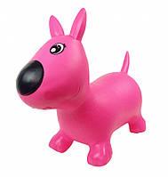 Прыгун резиновый Игрушка для детей собачки MS1592 (Розовый)