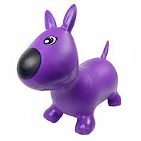 Игрушка прыгун резиновый для детей собачки MS1592         (Фиолетовый)