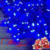 Новогодняя гирлянда Бахрома 96 Led 3.5 м (черный провод, синий)