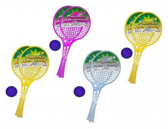 Ракетки для тенниса с мячиком