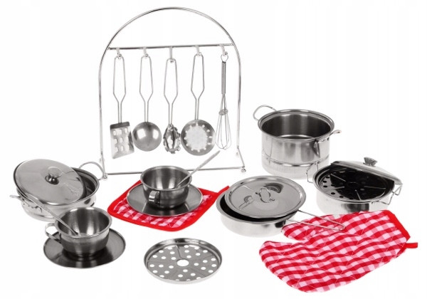 Большой комплект детской кухонной посуды Shantou Jinxing 555-BX009 (23 элемента)