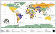 Скретч карта мира MyMap Edition на Английском оригинальный подарок на 14 фев Travel map, 82 х 58 см