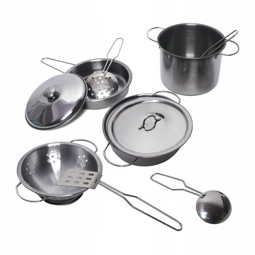 Большой комплект детской кухонной посуды  555-BX001  (11 элементов)
