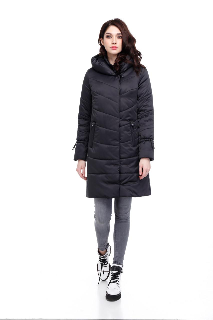 Модная зимняя куртка до колен  размеры 42-54
