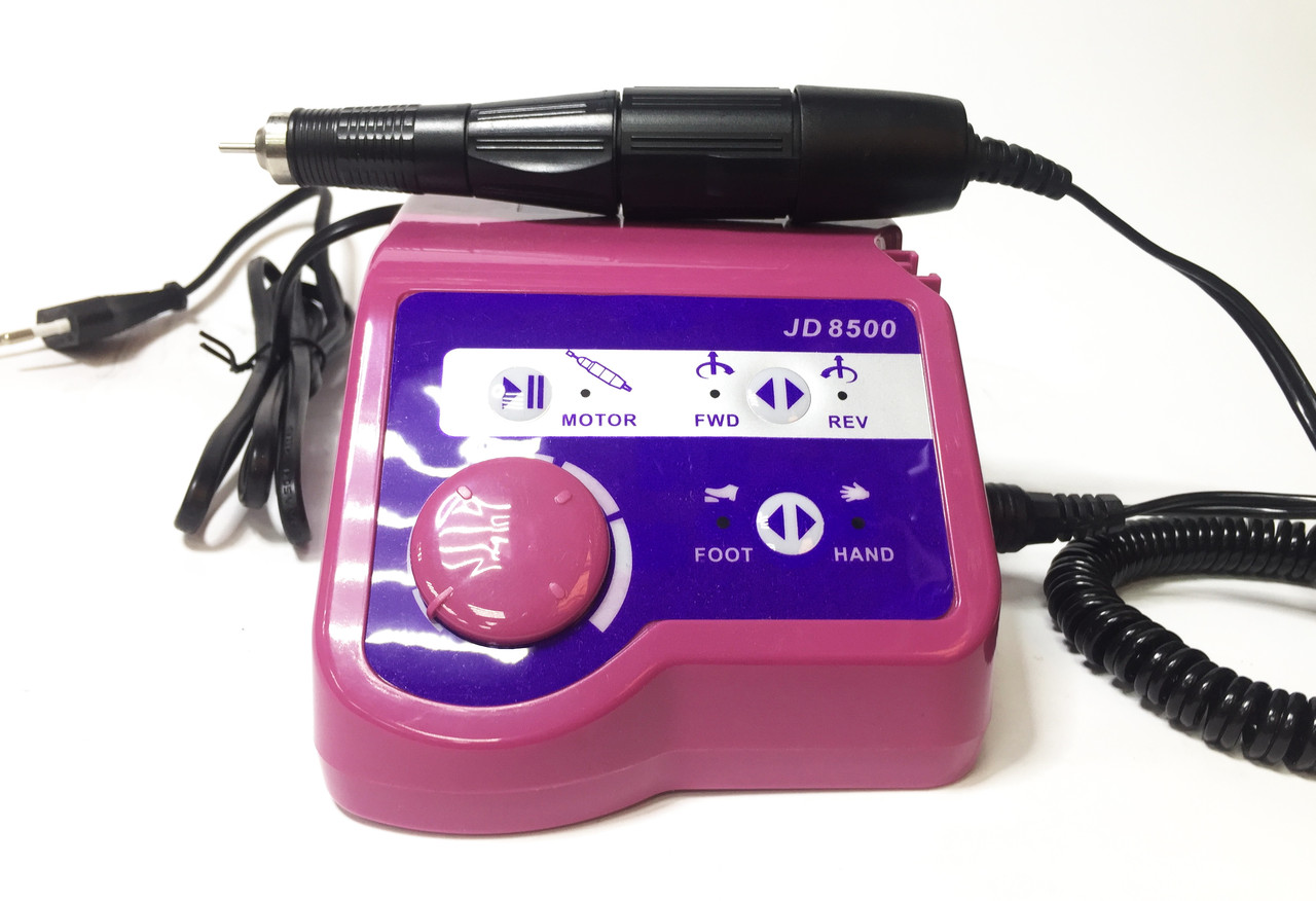 Аппарат фрезерная машинка Electric drill JD8500 для маникюра и педикюра малиновый 35000 об./мин 65Вт