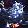"""Новогодняя гирлянда """"Нить"""" уличная 80 LED, 8.5 м (белый провод, холодный белый)"""