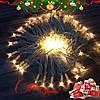 """Новогодняя гирлянда """"Нить"""" уличная 100 LED, 10 м (белый провод, теплый белый)"""