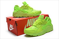 Женские кроссовки Nike Air Huarache салатовые, фото 1