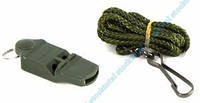 Свисток  на шейном шнурке без шарика MIL-TEC Olive, 16328100