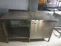 Стол с нержавейки 1,5 м. Производственный стол бу. Стол с нержавейки бу. Нержавейка