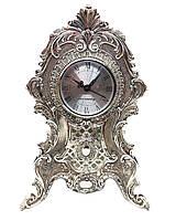 Настольные каминные часы MCA Vizyon из мельхиора с посеребрением, фото 1