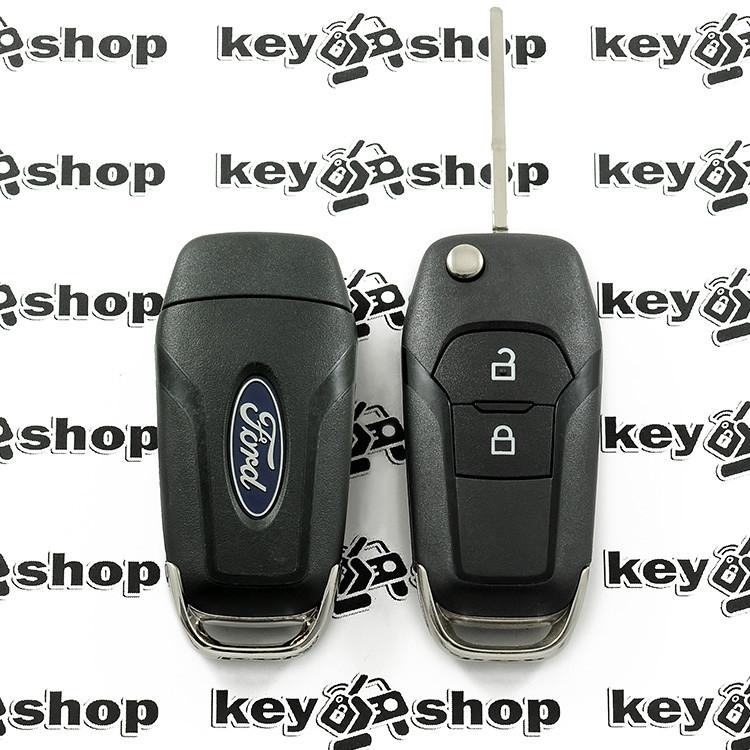 Оригінальний викидний ключ для Ford (Форд) 2 кнопки, чіп ID 49, 433 MHz