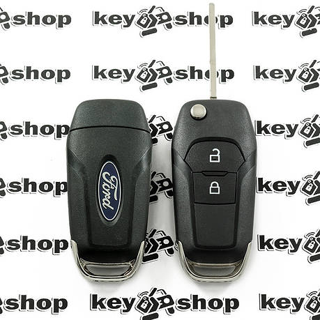 Оригінальний викидний ключ для Ford (Форд) 2 кнопки, чіп ID 49, 433 MHz, фото 2