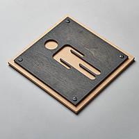 Табличка на дверь деревянная для ресторанов, кафе . Указатель для туалета