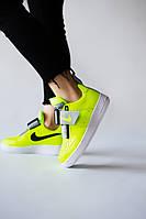 Женские кроссовки Nike Air Force Utility Volt салатовые. Размеры (36,37,38,39,40)