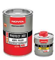 Двухкомпонентный акриловый наполняющий грунт Novol PROTECT 300  4+1 (MS) белый 1л + отверд.