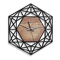 Деревянные настенные часы Moku Design Ginza 38 х 38 см 0203, КОД: 1205848