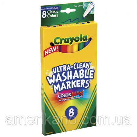 Набор смываемых фломастеров (8шт) Crayola из США. Пусть дети рисуют- все отмоется!