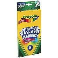 Набор смываемых фломастеров (8шт) Crayola из США. Пусть дети рисуют- все отмоется!, фото 1