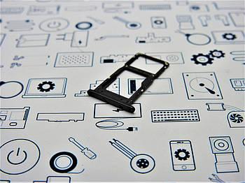 Держатель сим карты Huawei P Smart 2019 POT-LX1 черный новый Сервисный оригинал