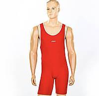 Трико для борьбы и тяжелой атлетики ASICS , бифлекс красное размеры  M, фото 1