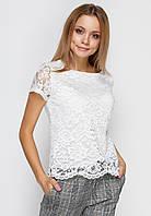 Романтическая гипюровая блузка свободного кроя с большой скидкой - 70% по оптовой цене