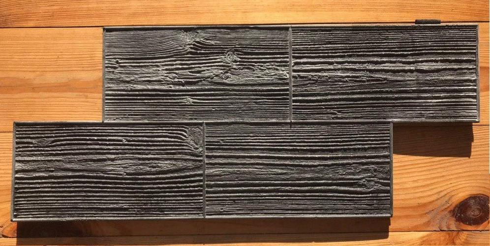 """Полиуретановый форма штамп для бетона """"Доска"""", для пола и дорожек, 57*24 см"""