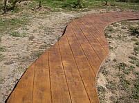 """Полиуретановый форма штамп для бетона """"Доска"""", для пола и дорожек, 57*24 см, фото 4"""