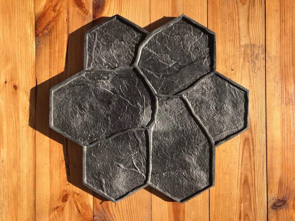 """Резиновый штамп для печатного бетона и штукатурки """"Цветок"""" (форма для печатного бетона)"""