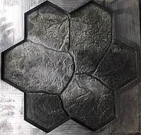 """Резиновый штамп для печатного бетона и штукатурки """"Цветок"""" (форма для печатного бетона), фото 2"""