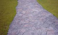 """Резиновый штамп для печатного бетона и штукатурки """"Цветок"""" (форма для печатного бетона), фото 7"""