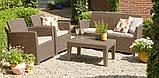 Набір садових меблів Corona Lounge Set зі штучного ротанга, фото 2