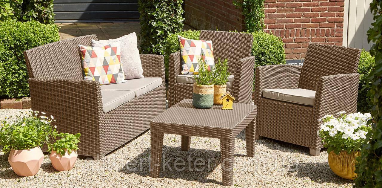Набір садових меблів Corona Lounge Set зі штучного ротанга