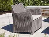 Набір садових меблів Corona Lounge Set зі штучного ротанга, фото 3