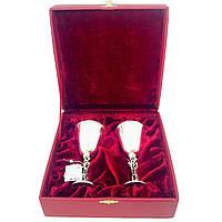 Набор рюмок из серебра Харьковский ювелирный завод в подарочной упаковке, фото 1