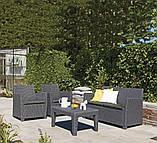 Набір садових меблів Corona Lounge Set зі штучного ротанга, фото 5