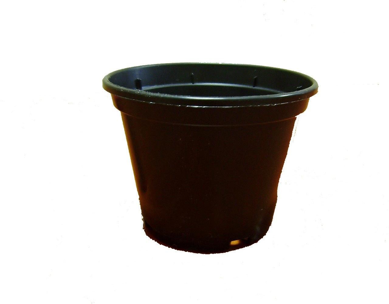 """Пластиковий стаканчик для розсади d=80мм чорний """"Алеана"""""""