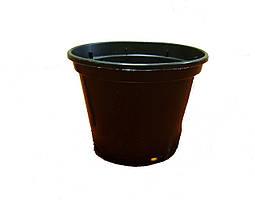 """Пластиковый  стаканчик для рассады d=80мм черный  """"Алеана"""""""