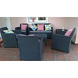 Набір садових меблів Corona Lounge Set зі штучного ротанга, фото 8