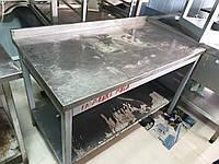 Стол с нержавейки 1,3 м. бу. Столы производственные бу. Столы для кухни бу