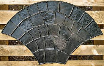 """Резиновый штамп для печатного бетона """"Веер"""" (форма для печатного бетона)"""