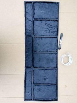 """Поліуретановий штамп для бетону """"Камінь Бордюрний"""", для підлоги і доріжок"""