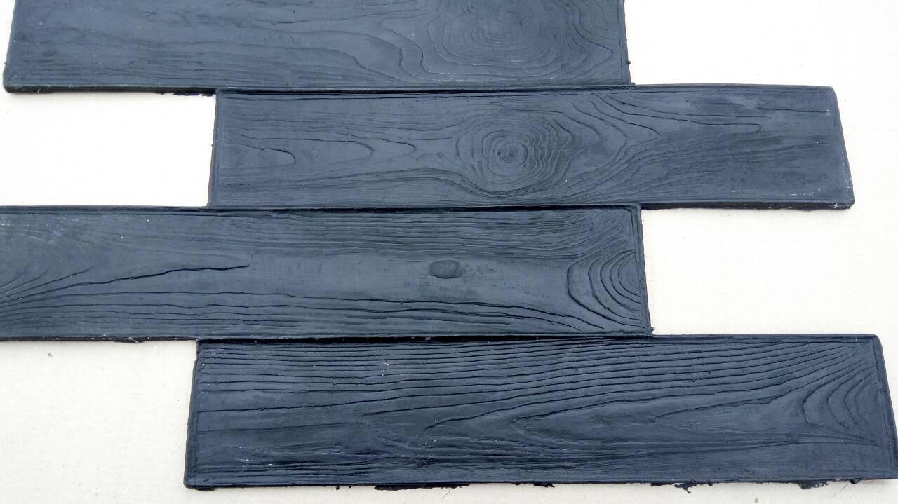 """Гумовий штамп для штампованого бетону """"Палуба"""" під дерево (форма для штампованого бетону)"""