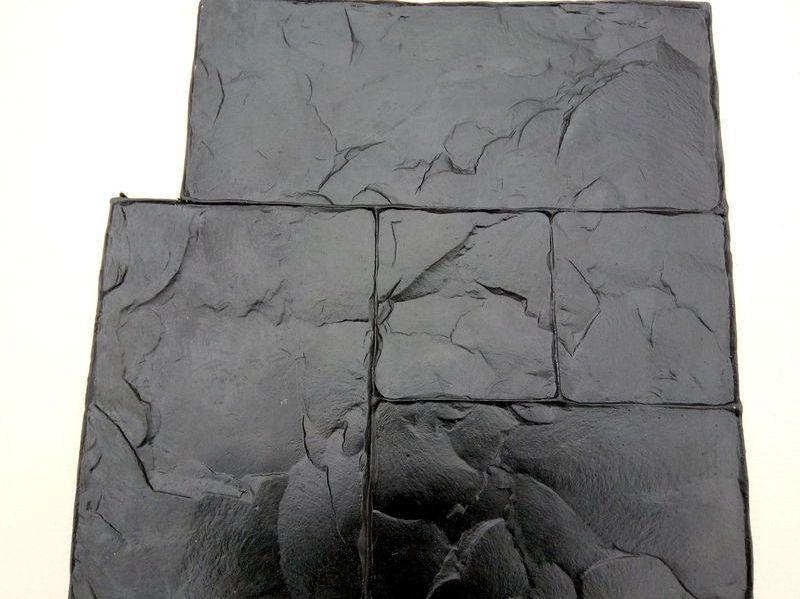"""Резиновый штамп для печатного бетона """"Тесаный Камень №1"""" (форма для печатного бетона)"""