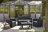 Набір садових меблів Corona Lounge Set зі штучного ротанга, фото 10