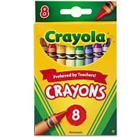 Восковые мелки карандаши (8шт) Crayola из США. Пусть дети рисуют- все отмоется!